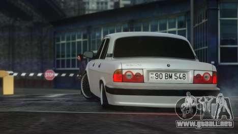GAZ 31105 Tuning Aze Style para GTA 4 visión correcta