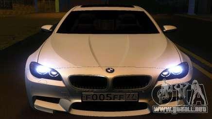 BMW M5 F10 2012 para GTA San Andreas