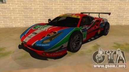 2016 Ferrari 488 GTE para GTA San Andreas