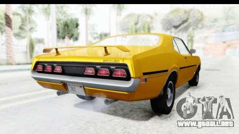 Mercury Cyclone Spoiler 1970 IVF para GTA San Andreas vista posterior izquierda