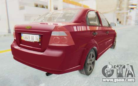 Chevrolet Aveo 2007 para GTA San Andreas left