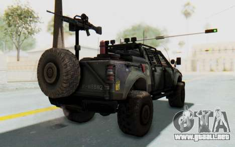 Toyota Hilux Technical para GTA San Andreas left