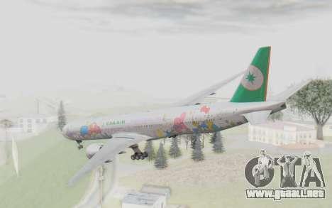Boeing 777-300ER Eva Air v2 para la visión correcta GTA San Andreas