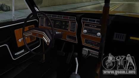Ford Bronco 1982 Police IVF para visión interna GTA San Andreas