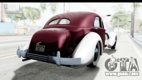 Cord 812 Charged Beverly Low Chrome para GTA San Andreas vista posterior izquierda
