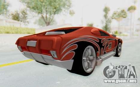 Hot Wheels AcceleRacers 2 para GTA San Andreas vista posterior izquierda