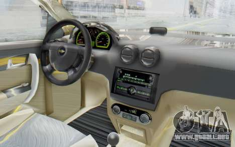 Chevrolet Aveo 2007 para visión interna GTA San Andreas