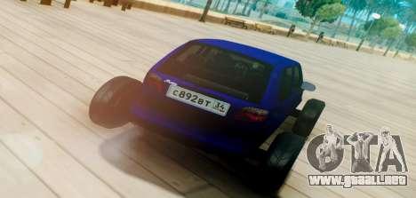 Daewoo Matiz R20 Vossen para GTA San Andreas vista posterior izquierda