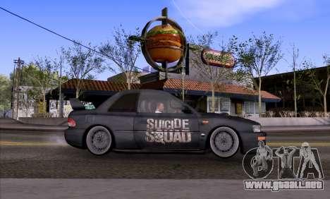 Subaru impreza 22B (SUICIDE SQUAD) para GTA San Andreas left