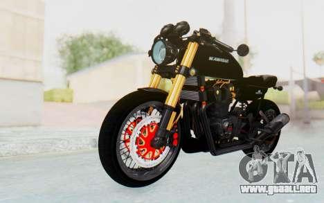 Kawasaki Z1000 Moghe Cafe Racer para la visión correcta GTA San Andreas