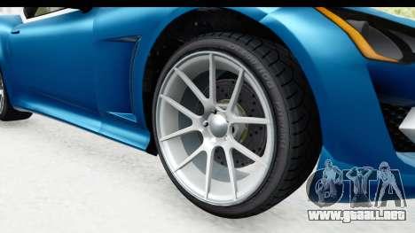 GTA 5 Lampadati Furore GT SA Lights para GTA San Andreas vista hacia atrás
