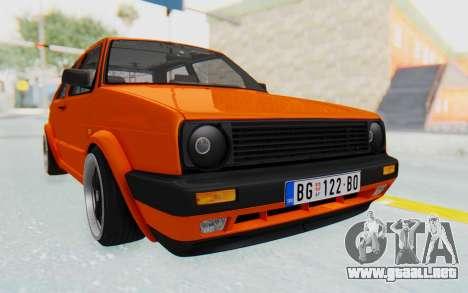 Volkswagen Golf 2 GTI 1.6V para la visión correcta GTA San Andreas