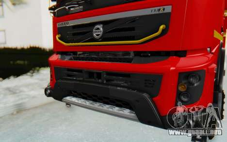 Volvo FMX 6x4 Dumper v1.0 para GTA San Andreas vista hacia atrás