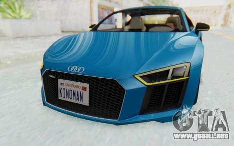 Audi R8 V10 2017 v2.0 para vista lateral GTA San Andreas