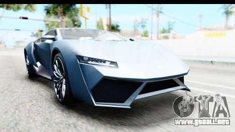 GTA 5 Pegassi Reaper v2 para GTA San Andreas vista posterior izquierda