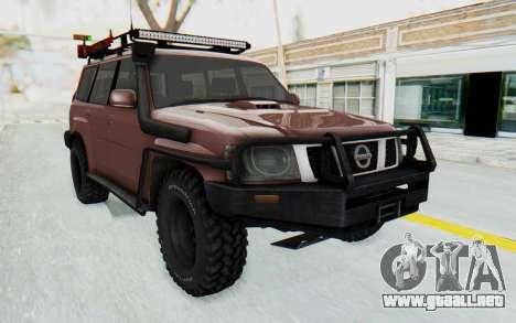 Nissan Patrol Y61 Off Road para la visión correcta GTA San Andreas
