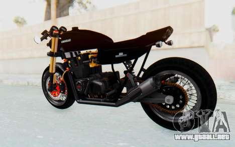 Kawasaki Z1000 Moghe Cafe Racer para GTA San Andreas vista posterior izquierda