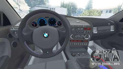 GTA 5 BMW M3 (E36) Street Custom [blue dials] v1.1 vista lateral derecha