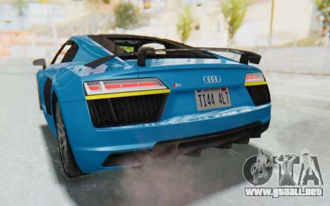 Audi R8 V10 2017 v2.0 para la vista superior GTA San Andreas