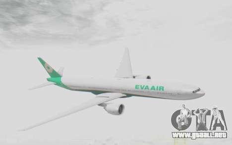Boeing 777-300ER Eva Air v3 para GTA San Andreas