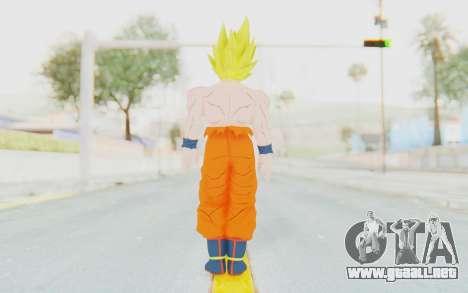 Dragon Ball Xenoverse Goku Shirtless SSJ para GTA San Andreas tercera pantalla