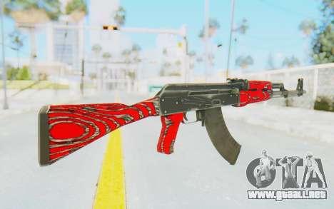 CS:GO - AK-47 Laminate Red para GTA San Andreas segunda pantalla