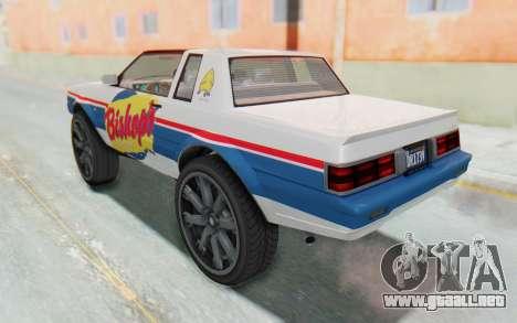 GTA 5 Willard Faction Custom Donk v1 IVF para GTA San Andreas interior