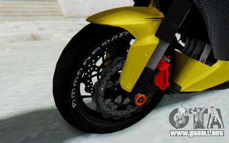 Kawasaki Ninja 250 Abs Streetrace v2 para GTA San Andreas vista hacia atrás