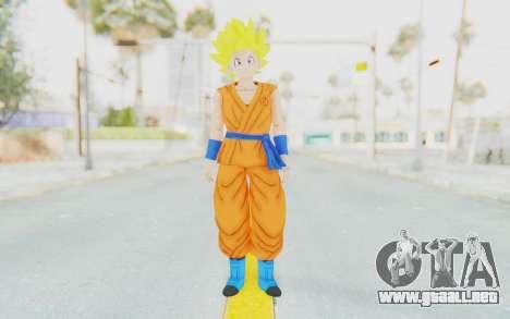 Dragon Ball Xenoverse Female Saiyan SSJ para GTA San Andreas segunda pantalla