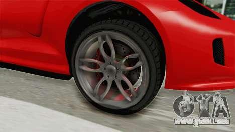 GTA 5 Grotti Bestia GTS v2 IVF para GTA San Andreas vista hacia atrás