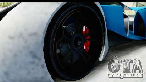 GTA 5 Grotti X80 Proto IVF para GTA San Andreas vista hacia atrás