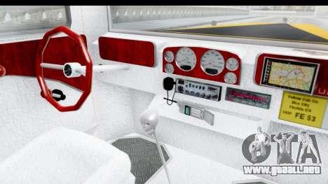 Unique V16 Fordor Taxi para visión interna GTA San Andreas