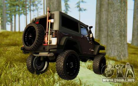 Jeep Wrangler Rubicon 2012 para GTA San Andreas left