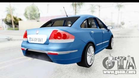 Fiat Linea 2014 Wheels para GTA San Andreas left