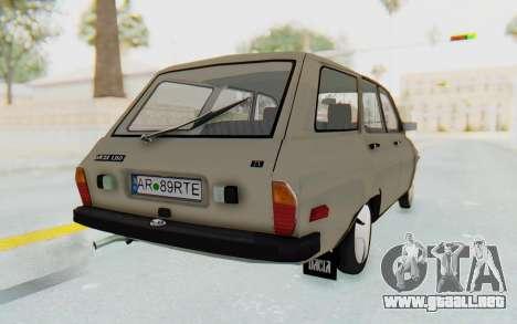 Dacia 1310 Break 1988 para GTA San Andreas vista posterior izquierda