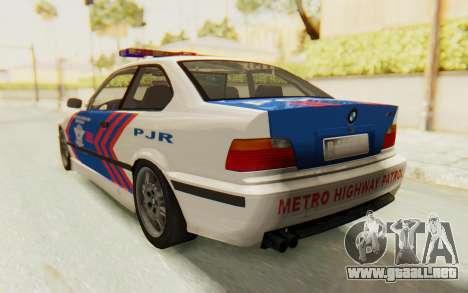 BMW M3 E36 Police Indonesia para la visión correcta GTA San Andreas