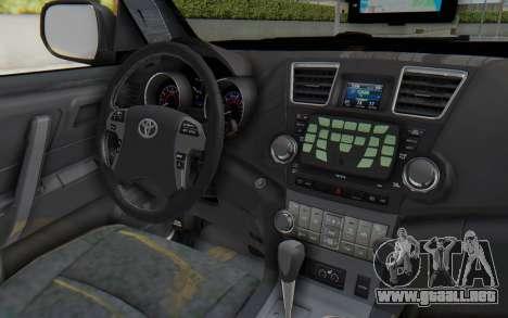 Toyota Fortuner 4WD 2015 Paraguay Police para visión interna GTA San Andreas