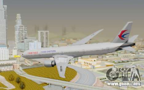 Boeing 777-300ER China Eastern Airlines para GTA San Andreas left