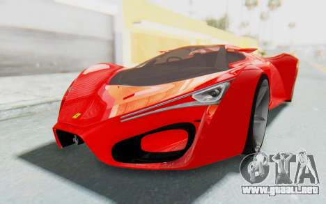 Ferrari F80 Concept 2015 Beta para GTA San Andreas vista posterior izquierda