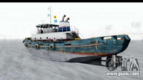 GTA 5 Buckingham Tug Boat v1 IVF para GTA San Andreas vista posterior izquierda