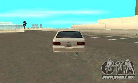 Caprice styled Premier para GTA San Andreas vista posterior izquierda