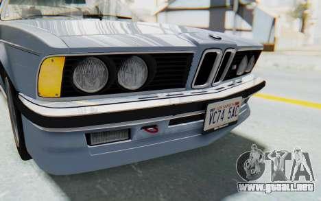 BMW M635 CSi (E24) 1984 IVF PJ1 para la vista superior GTA San Andreas