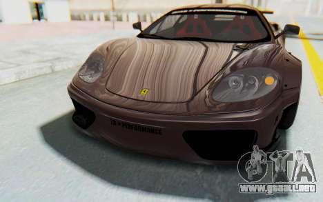 Ferrari 360 Modena Liberty Walk LB Perfomance v1 para el motor de GTA San Andreas