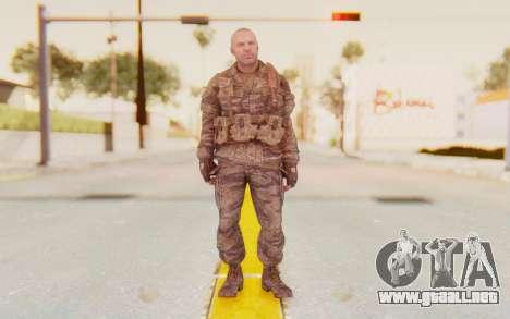 COD BO Hudson Vietnam para GTA San Andreas segunda pantalla