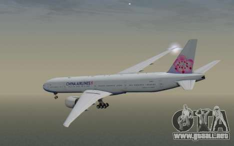 Boeing 777-300ER China Airlines para la visión correcta GTA San Andreas