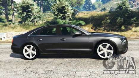 GTA 5 Audi A8 FSI 2010 vista lateral izquierda
