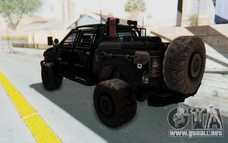 Toyota Hilux Technical Vindicator SecFor para GTA San Andreas left