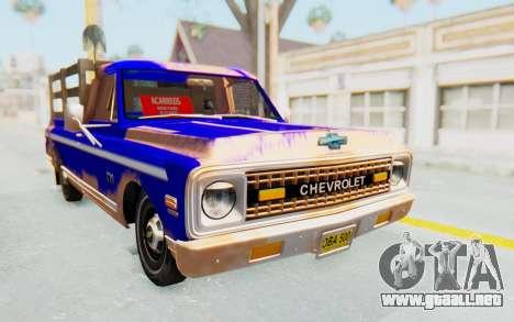 Chevrolet C10 1970 para la visión correcta GTA San Andreas