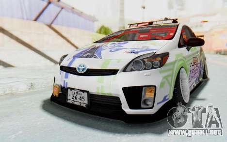 Toyota Prius Hybrid 2011 Hellaflush IF Itasha para la visión correcta GTA San Andreas