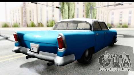 Cabbie Oceanic para GTA San Andreas vista posterior izquierda